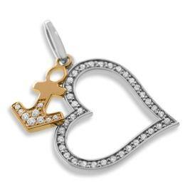 Eleganter Herz Anker Anhänger aus 925 Sterling Silber