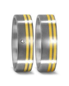 Trauringe 750/- Gelbgold Titan schlicht & schick