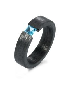 Carbon Topas Ring