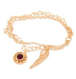 Taufschmuck rosé vergoldet Armband Gravur Name Geschenk Taufe Geburt Kommunion
