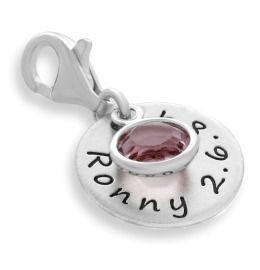 Namensanhänger 925 Silber Charm Gravur