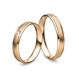 Rosegold Eheringe schlicht romantisch verspielt