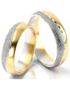 Trauringe bicolor Gold schlicht
