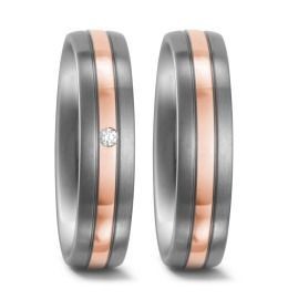 Hochzeitsringe mehrfarbig mit Diamant