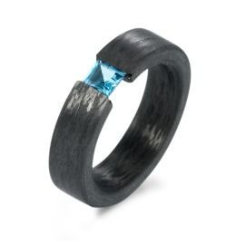 Carbon Topas Ring