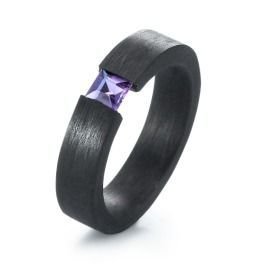 Carbon Amethyst Ring
