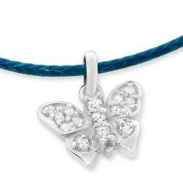 Halskette mit Schmetterling aus 925 Silber mit Zirkonia