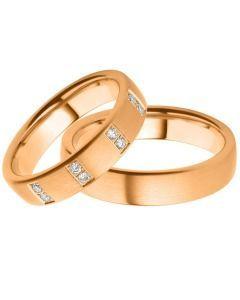 Eheringe exklusive Rotgold Ringe Brillanten