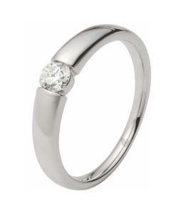 schöner eleganter Verlobungsring 375/- Weißgold Brillant