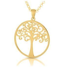 Baum des Lebens vergoldet Kette Lebensbaum gold