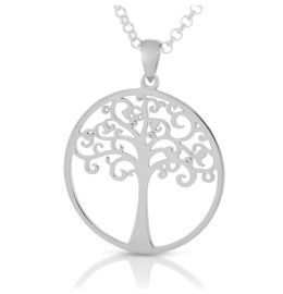 Lebensbaum Anhänger mit Kette 925 Silber