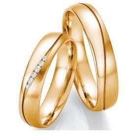 Romantische Trauringe Gelbgold mit Diamanten Goldringe online