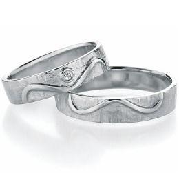 Trauringe Silber Unendlichkeit schlichte mit Diamant Partnerringe