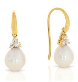 Perlen Ohrhänger vergoldet