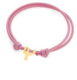 Armband mit Charm Kreuz, Taufarmband vergoldet