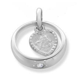 Taufring Engel Anhänger 925 Sterling Silber