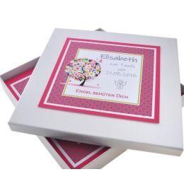 Geschenk Karton, Schachtel Andenken, Schmuck box zur Taufe, Kommunion, Geburt