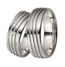 auffalend breite elegante Silber Trauringe