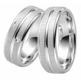 breite ausgefallende Trauringe aus 925/- Silber & Zirkonia