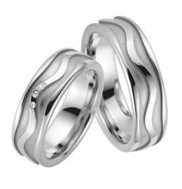 exklusive breite Ringe zur Trauung Eheringe aus platiniertem 925/- Sterlingsilber