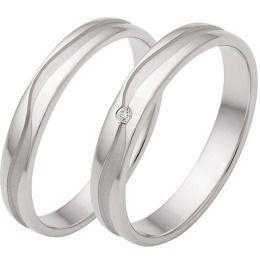 925 Silber Partnerringe Eheringe Muster