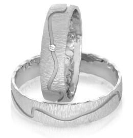 edle Ringe zur Hochzeit mit Brillant aus Palladium