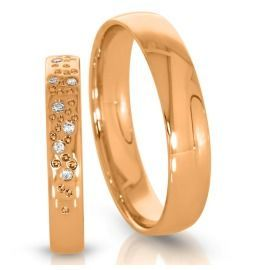 klassische Trainge 333/- Rosegold Diamanten Sternenhimmel