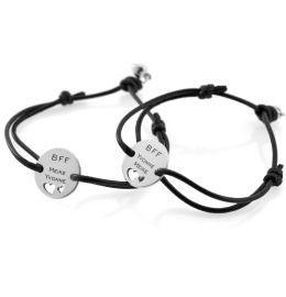 Baumwollband mit Gravur 2er Set Armbänder