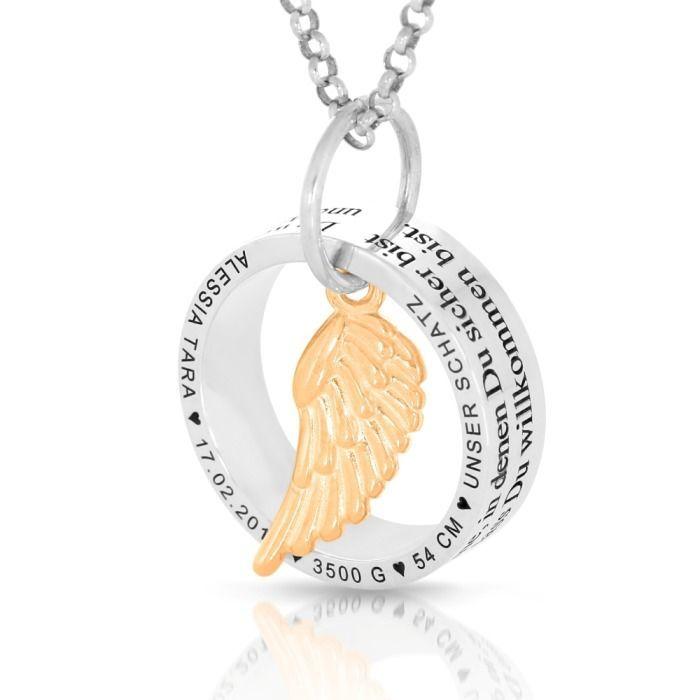 Taufkette,Kinderkette,Namenskette,Silber 925 Inkl.GRAVUR Rosé vergoldet