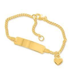 ID-Armkettchen vergoldet für Babys- & Kleinkinder, Namensarmband mit Gravur