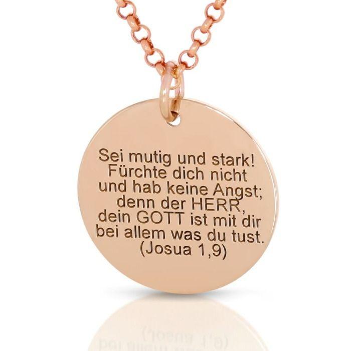 Exklusive Kette Mit Gravur Rosé Vergoldet Taufschmuck Spruch Name Datum