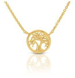 Halskette Lebensbaum hochwertig vergoldet