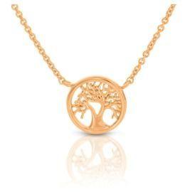Baum Anhänger rosé vergoldet Damen Halskette