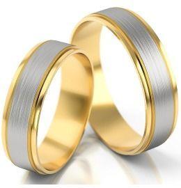 schlichte elegante Eheringe aus Gelb-& Weißgold