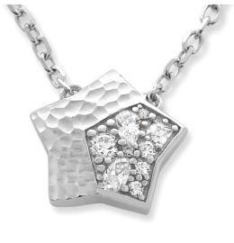 Sternanhänger mit Zirkonia, Damenschmuck 925 Silber