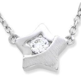 hochwertig Damenkette mit Stern Anhänger, 925 Silber