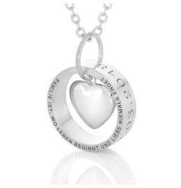 Herzkette mit Gravur, Ring mit Spruch