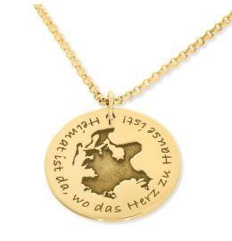 Abdruckkette Gravur Namenskette gold Fingerabdruck Heimat Ort Koordinaten