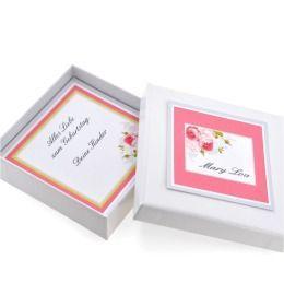 Schmuckschachtel mit Text Geschenk Schachtel für Armband Kette Geburtstag