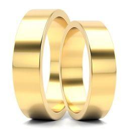klassische schlichte Trauringe Gelbgold Eheringe Partnerringe