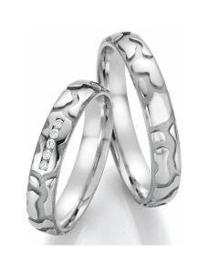 Romantische Trauringe Weißgold Diamanten