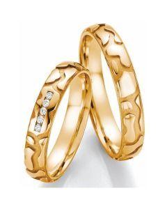 Romantische Trauringe Gelbgold Diamanten