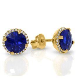 Ohrstecker elegant mit blauem Zirkonia Damenschmuck