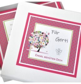besondere Geschenkschachtel, Schmuckschachtel mit Wunschtext, personalisierte Geschenkschachtel