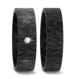 Trauringe Carbon Diamant schwarz